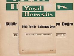 YEŞİL HEMŞİN DERGİSİ 1.SAYI (1968) (Ankara Hemşin Kültür ve Kalkındırma Derneği)